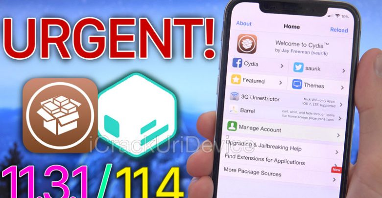Fix Cydia Jailbreak iOS 11.3.1