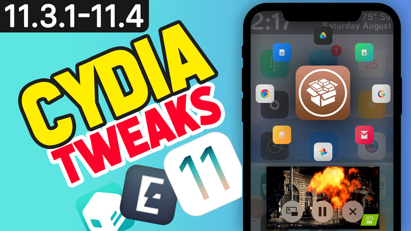 top tweaks ios 11.3.1 august 2018