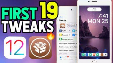 First 19 tweaks iOS 12