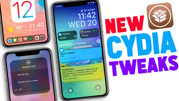 Jailbreak iOS 12 Cydia Tweaks