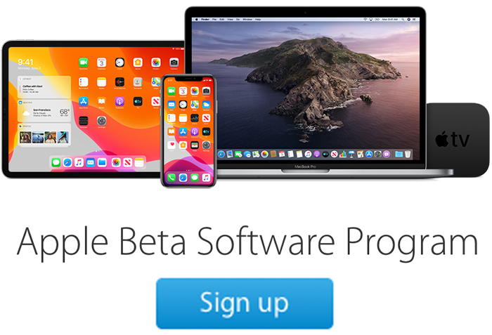 Sign up iOS 13 Public Beta