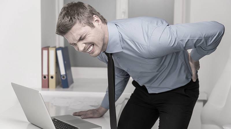 standing desk back pain