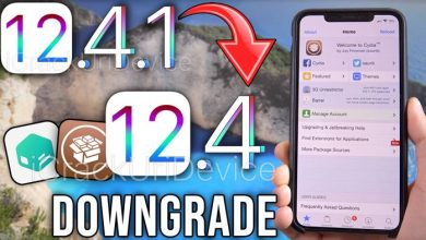 how to downgrade ios 12.4.1