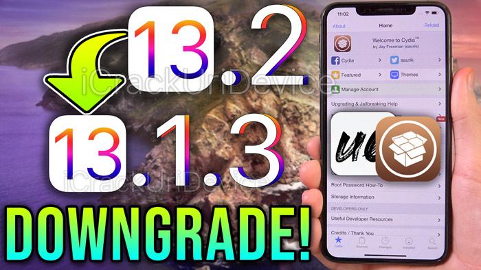 downgrade iOS 13.2 to 13.1.3