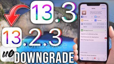 downgrade iOS 13.3 to iOS 13.2.3
